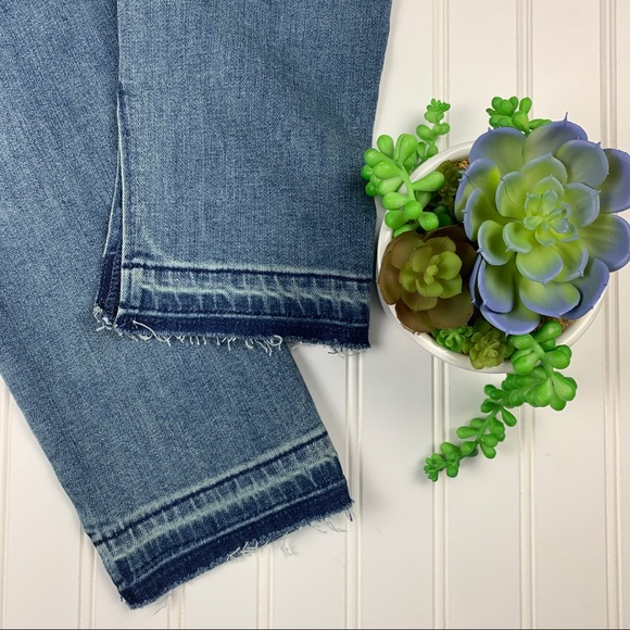 Free People Denim - 🌵Free People High Waisted Jeans Raw Split Hem 27